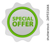 special offer circular icon on... | Shutterstock . vector #269531666