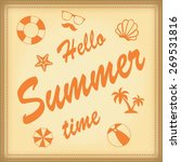 summer travel and vacation icon ... | Shutterstock .eps vector #269531816