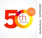 50 years old round logo.... | Shutterstock .eps vector #269535485