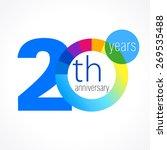 20 years round logo.... | Shutterstock .eps vector #269535488