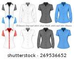 short and long sleeve blouses...   Shutterstock .eps vector #269536652