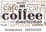coffee background different... | Shutterstock .eps vector #269541335