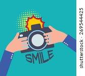 vector camera in flat style  ... | Shutterstock .eps vector #269544425