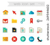 flat detailed web colored icons ...
