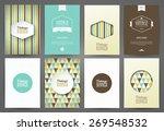 set of brochures in vintage... | Shutterstock .eps vector #269548532
