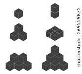 cube icon | Shutterstock .eps vector #269559872