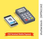 pos terminal wireless mobile...   Shutterstock .eps vector #269561162