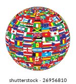 country flags on ball | Shutterstock .eps vector #26956810