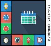 set of colorful flat design... | Shutterstock .eps vector #269574416