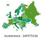 europe vector map | Shutterstock .eps vector #269575136