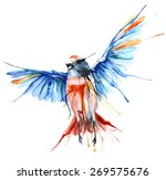 Stock vector watercolor style vector illustration of bird 269575676