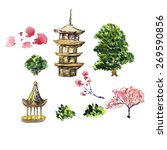zen temple vector illustration. ... | Shutterstock .eps vector #269590856