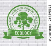 Ecology Tree Colored Logo Or...