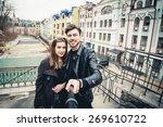 outdoor lifestyle portrait of... | Shutterstock . vector #269610722