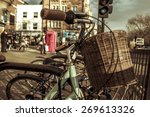 some bicycles locked in a rack... | Shutterstock . vector #269613326