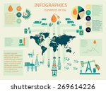 infographics of oil industry... | Shutterstock .eps vector #269614226