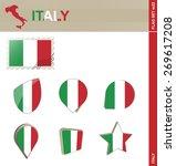 italy flag set  flag set  22.... | Shutterstock .eps vector #269617208