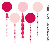 vector holiday pink air... | Shutterstock .eps vector #269621882
