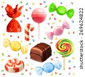 candy set  vector icons | Shutterstock .eps vector #269624822
