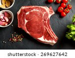 still life raw thick rib over... | Shutterstock . vector #269627642