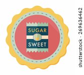 sugar packet flat icon with... | Shutterstock .eps vector #269636462