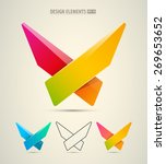 vector abstract logo design.... | Shutterstock .eps vector #269653652