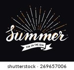 hand drawn vintage summer... | Shutterstock .eps vector #269657006