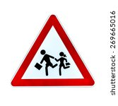 school crossing sign isolated... | Shutterstock . vector #269665016