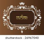 brown floral banner | Shutterstock .eps vector #26967040