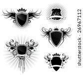 shield designs set | Shutterstock .eps vector #26967112