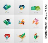 set of paper graphic layouts.... | Shutterstock .eps vector #269675522