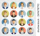 people icons on mosaic... | Shutterstock .eps vector #269678792