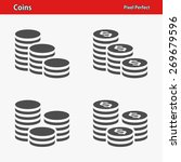 Coins Icons. Professional ...