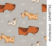 nice  seamless pattern with... | Shutterstock .eps vector #269687762