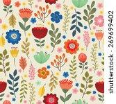 floral seamless pattern    Shutterstock .eps vector #269699402