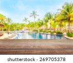 pool  swimming  deck. | Shutterstock . vector #269705378