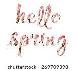 hello spring vector... | Shutterstock .eps vector #269709398