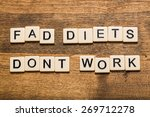 Small photo of Fad, diet, dieting.