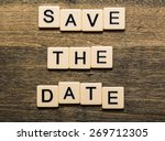 date  save  greeting. | Shutterstock . vector #269712305