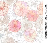 decorative floral seamless...   Shutterstock .eps vector #269713025