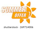 summer offer with sun sign ... | Shutterstock . vector #269714006