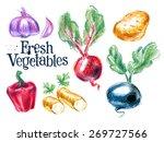 harvest vector logo design... | Shutterstock .eps vector #269727566