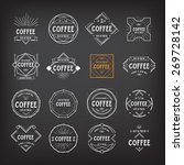 coffee menu logo template... | Shutterstock .eps vector #269728142