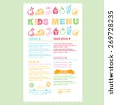 kids menu. vector template.   Shutterstock .eps vector #269728235