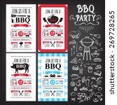 barbecue party invitation. bbq... | Shutterstock .eps vector #269728265