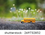 Yellow School Bus Toy Model On...