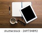 pad  business  top. | Shutterstock . vector #269734892