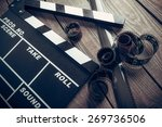 film  cinema  clapper.   Shutterstock . vector #269736506