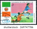 cuba   circa 1985  stamp...   Shutterstock . vector #269747786