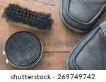 Shoe Polish And Brush With Old...